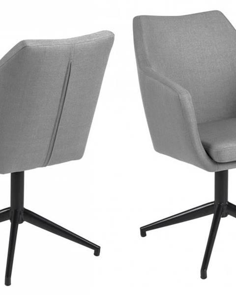 Bighome.sk Jedálenská stolička s opierkami NORA, svetlosivá