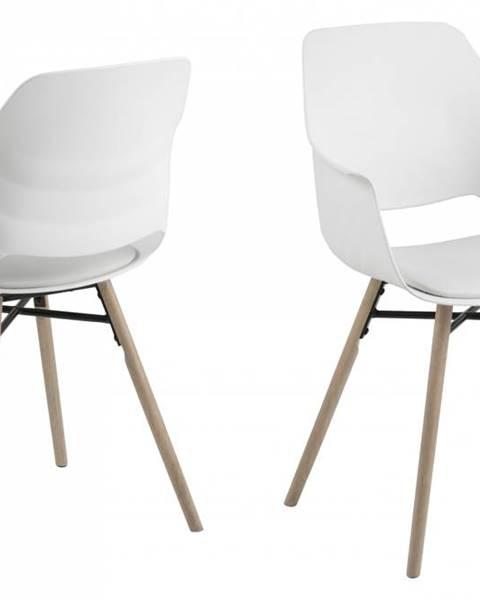 Bighome.sk Jedálenská stolička s opierkami RAMONA, biela