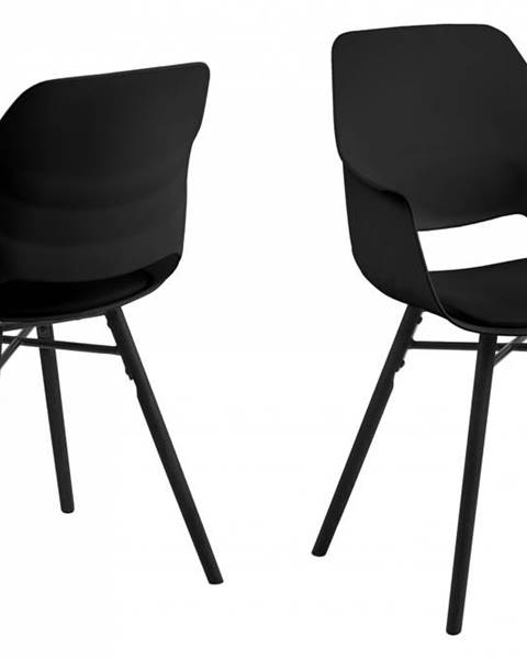 Bighome.sk Jedálenská stolička s opierkami RAMONA, čierna