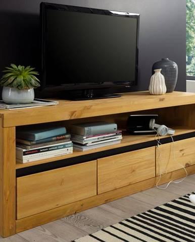ALBURY TV stolík 160x55 cm, borovica, prírodná