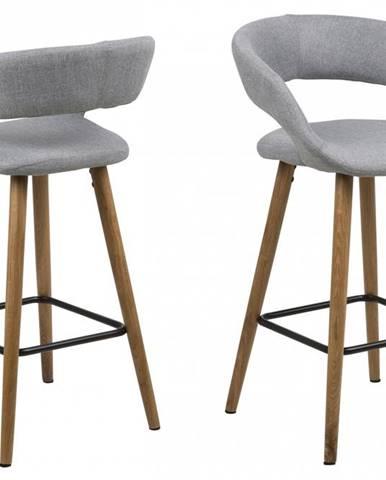 Barová stolička GRACE, svetlosivá