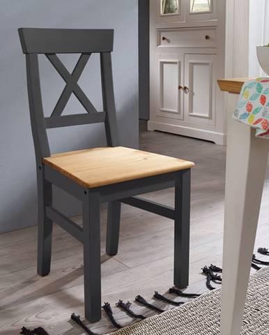 BIANCA Jedálenská stolička, borovica, sivá