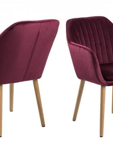 Jedálenská stolička s opierkami EMILIA, bordová
