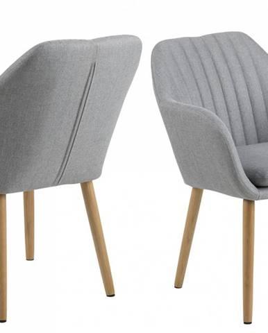 Jedálenská stolička s opierkami EMILIA, svetlosivá