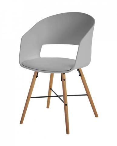 Jedálenská stolička s opierkami LUNA, sivá