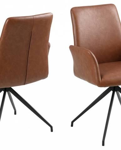 Jedálenská stolička s opierkami NAYA, hnedá
