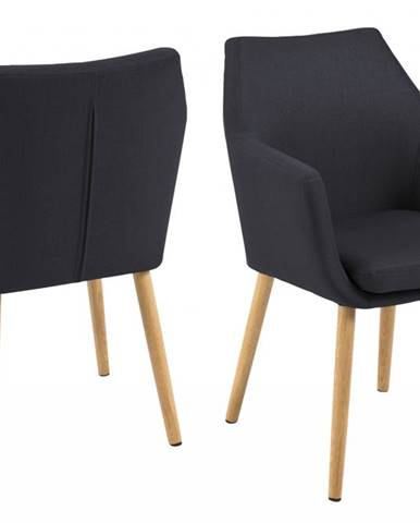 Jedálenská stolička s opierkami NORA, antracitová