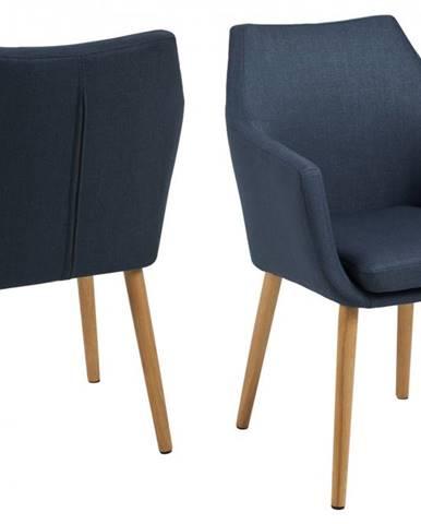 Jedálenská stolička s opierkami NORA, tmavomodrá