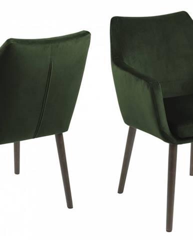 Jedálenská stolička s opierkami NORA, zelená