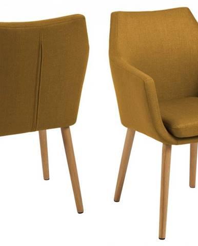 Jedálenská stolička s opierkami NORA, žltá