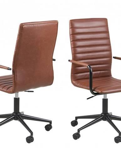 Kancelárska stolička WINSLOW, hnedá