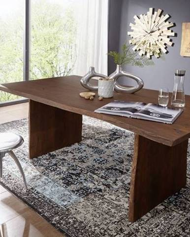 WOODLAND Jedálenský stôl 160x100 cm, tmavohnedá, akácia