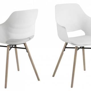 Jedálenská stolička s opierkami RAMONA, biela