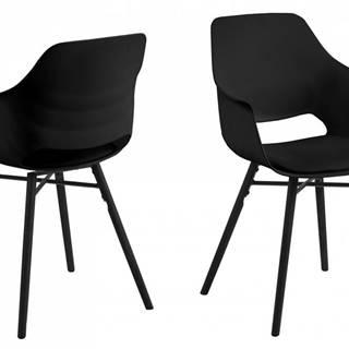 Jedálenská stolička s opierkami RAMONA, čierna