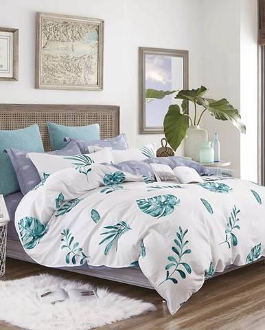Bavlnená saténová posteľná bielizeň ALBS-01176B/2 140x200