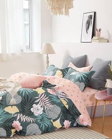 Bavlnená saténová posteľná bielizeň ALBS-01188B/3 160x200