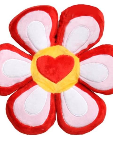 MERKURY MARKET Poduška KVET FAM0381 červená+ružovy