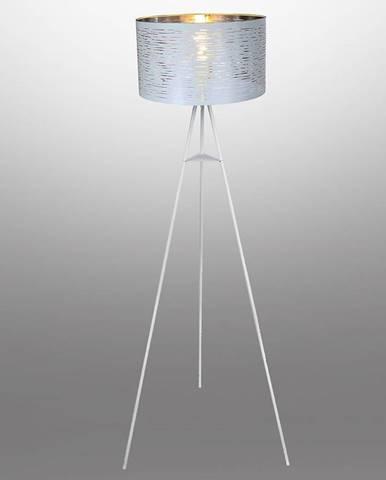 Stojacia lampa 15341S bielo-strieborná LP1
