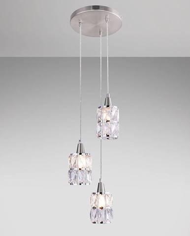 Závesná lampa 15760-3 chrómový kryštál LW3