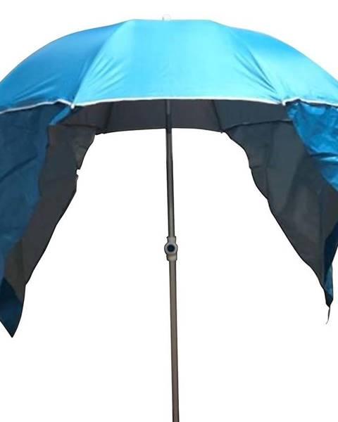 MERKURY MARKET Záhradný slnečník 180cm modrý