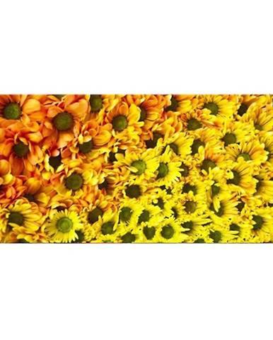 Dekor sklenený Žlté kvety 20/50