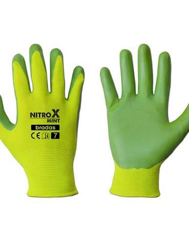 Ochranné rukavice Dámske nitrox mint veľkosť 7
