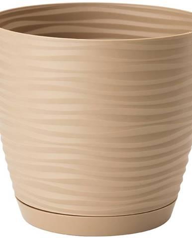 Sahara Petit okrúhly s podstavcom 17 cm caffe latte