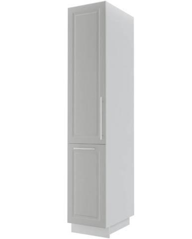 Kuchynská skrinka Emporium 2D14k/40 light grey stone/biela