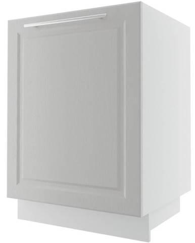 Kuchynská skrinka Emporium D1D/60 light grey stone/biela