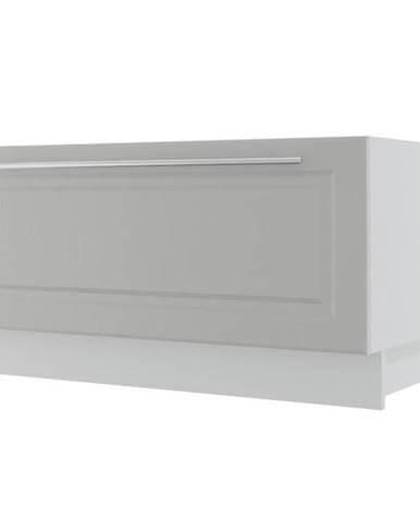 Kuchynská skrinka Emporium D1K/90 light grey stone/biela