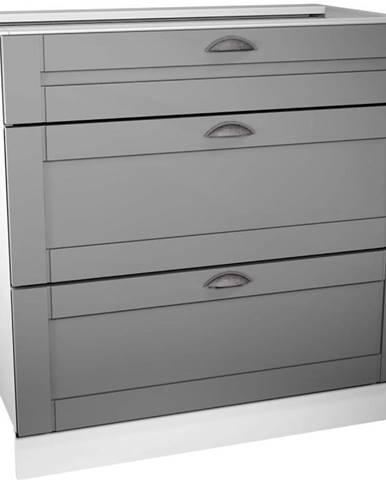 Kuchynská skrinka Linea D80S3 grey