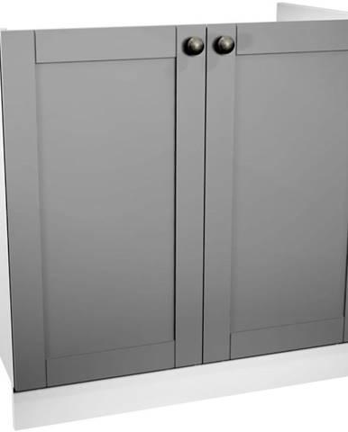 Kuchynská skrinka Linea D80Z grey