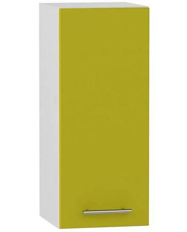 Skrinka do kuchyne Hana zelený lesk/biela W30 L BB