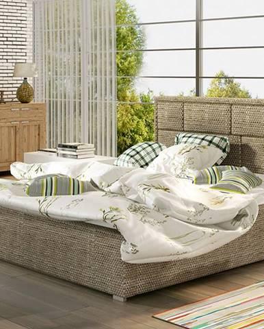 Liza 200 čalúnená manželská posteľ s roštom cappuccino