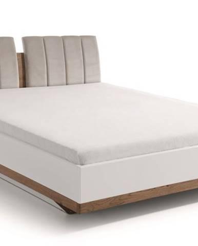 Como CM-3 160 manželská posteľ biely vysoký lesk