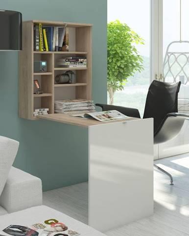 Hide rozkladací písací stolík s regálom sonoma svetlá