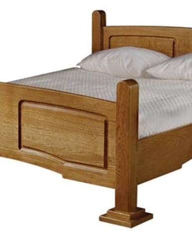 Kinga 160 rustikálna manželská posteľ drevo D3