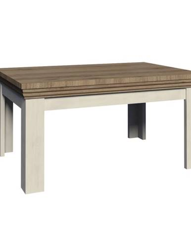 Royal ST rozkladací jedálenský stôl biela sosna nordická