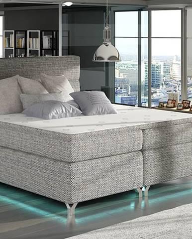 Avellino 140 čalúnená manželská posteľ s úložným priestorom sivá (Berlin 01)