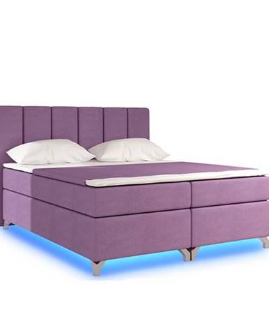 Barino 140 čalúnená manželská posteľ s úložným priestorom ružová