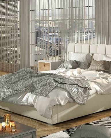 Galimo UP 160 čalúnená manželská posteľ s roštom béžová