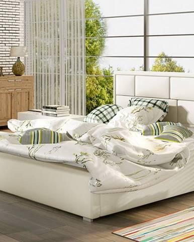 Liza 200 čalúnená manželská posteľ s roštom béžová