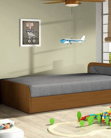 Pinerolo 80 P jednolôžková posteľ (váľanda) s úložným priestorom sivá