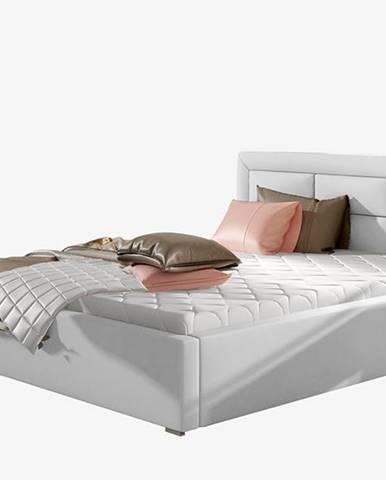 Rovigo UP 180 čalúnená manželská posteľ s roštom biela