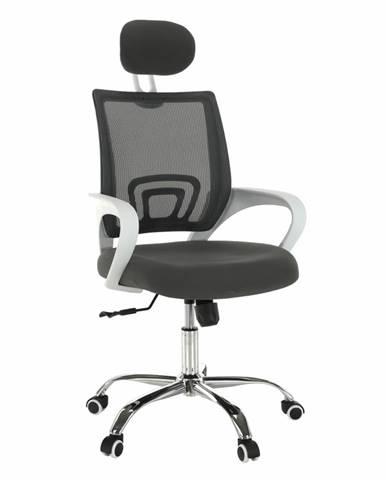 Sanaz Typ 1 kancelárske kreslo s podrúčkami sivá