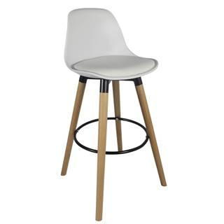 Evans barová stolička biela