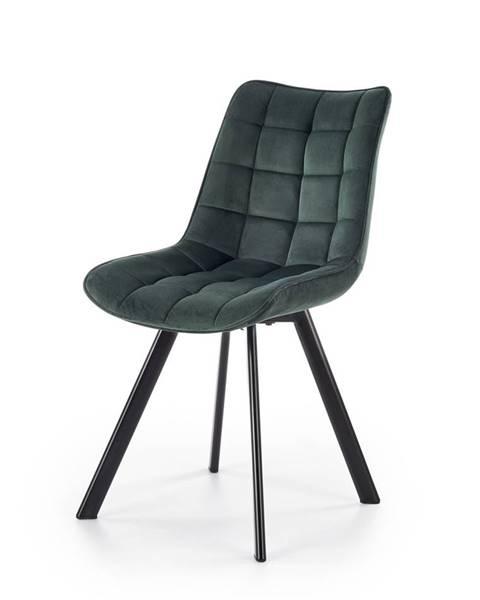 Halmar K332 jedálenská stolička tmavozelená