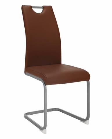 Dekoma jedálenská stolička hnedá