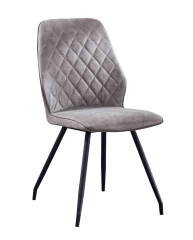 Herda jedálenská stolička sivá