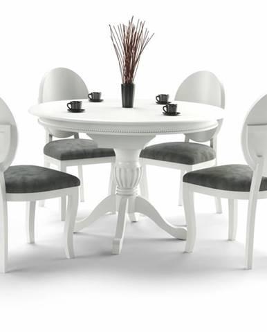 William rustikálny rozkladací jedálenský stôl biela